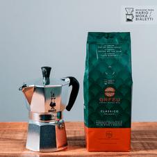 cafe-orfeu-kit-classico-cafeteira-italiana-mocha-bialetti-prata-pequena