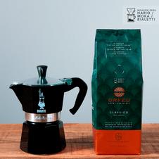 cafe-orfeu-kit-classico-cafeteira-italiana-mocha-bialetti-preta-pequena