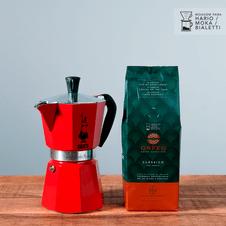 cafe-orfeu-kit-classico-cafeteira-italiana-mocha-bialetti-vermelha-grande
